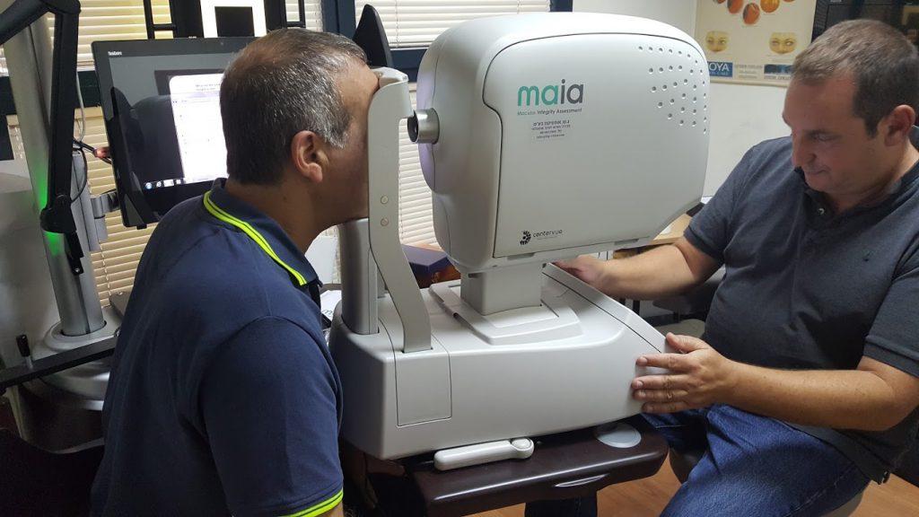 מיפוי מרכז הרשתית באמצעות Maia מיקרופרימיטר